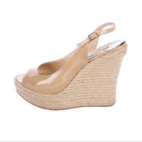 dc2a7e4fb9d Jimmy Choo Shoes - Jimmy Choo Polar Espadrille Wedge Size 39.5